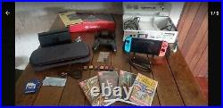 Nintendo Switch Package GAMES+SATISFYE SLIM BUNDLE+PRO CONTROL+SD CARD