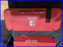Nintendo Switch (Red) + Pro Controller + Zelda Amiibo Cards