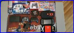 Nintendo Switch V2 Console Bundle With 4 Games, 2 Controllers, 2 Cases, 128Gb card