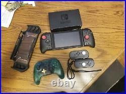 Nintendo switch grey joycon bundle pro controller and memory card
