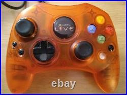 Original Microsoft Xbox Live Orange Prototype Controller with Memory Card Rare