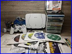 PS1 PSOne Slim Console Bundle 2 Controllers 25 Games Sony Memory Card & Manuals