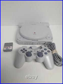 PS1 w LCD Screen Carrying case 1 Controller, Memory Card, and All Cords Included