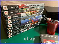 PS2 Fat Console with 12 Games and 2 Controller (Tested and Working) Memory Card