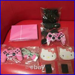 PS2 Pink Console SCPH-77000 PK 2 memory cards 2 controllers from japan Used