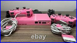 PS2 PlayStation 2 Pink Console 2x Controller Memory Card RARE SCPH-77002 PAL