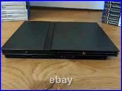 PS2 Slim Console Bundle 2 Controllers 60 Games Memory Card PAL Fast & Free P&P