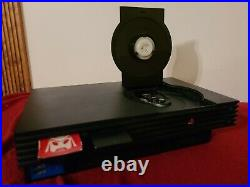 PS2 Top Loader Modded Console with 2 Memory Cards, 2 Controllers, Cables, 2 Games