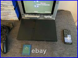 PS2 with Joytech Screen, Controller, Memory Card & 31 Games Bundle