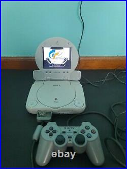 PSOne Slim Console with LCD Screen Combo SCPH-101, Controller, Memory Card, Game