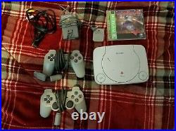 PS One Video Game Console (With 1 Game, Memory Card and 2 Controllers!)