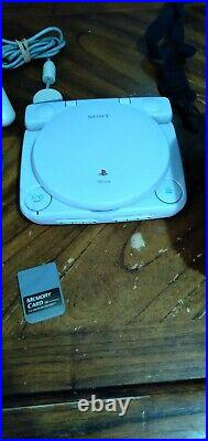 PS one Console with LCD withcase MONITOR, 1 game memory card controller av cord
