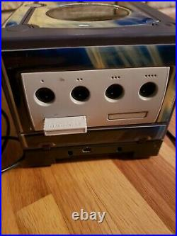 PURPLE Nintendo GameCube with OEM Controller Memory Card GameBoy Player Wire& GAME