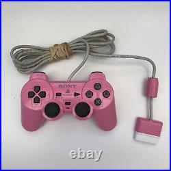 Pink Sony PlayStation 2 Slim Console, Memory Card, Official Controller & Leads