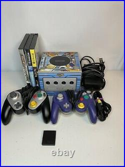 Platinum Nintendo GameCube Console Bundle With 3 Games 2 Controllers Memory Card