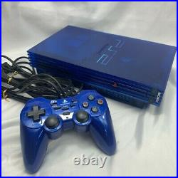 PlayStation2 SCPH-37000L Ocean Blue PS2 Console Controller Memory Card Game Soft