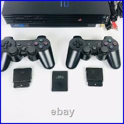 PlayStation 2 PS2 Fat Console Bundle, 2 Wireless Controllers, 128mb Memory Card