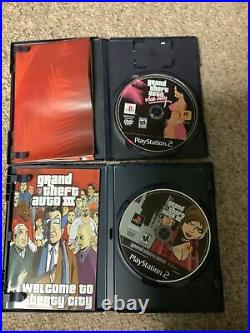 PlayStation 2 PS2 Fat Console Bundle Memory Card Controller Grand Theft Auto Lot