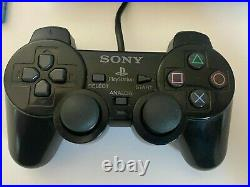PlayStation 2 PS2 Slim Console Black Bundle With Controller Memory Card 6 GAMES