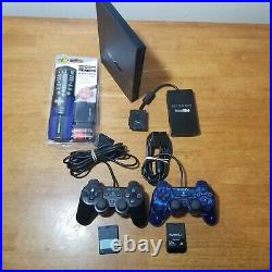 PlayStation 2 PS2 Slim SCPH-75001 Console BUNDLE 2 controllers, Memory Cards