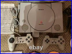 Playstation 1 Console 2 Controllers, 1 Mem. Card, 13 Games, Original Box & Papers