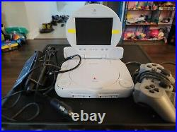 Playstation 1 Psone Ps1 Combo Bundle Console/Screen/Controller/AC + memory card