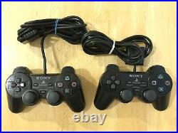 Playstation 2 PS2 Slim Console Bundle Lot 2 Controllers 8 Games Memory Card
