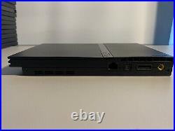 Playstation 2 Slim Bundle With 13 Games Controller Memory Card Black Label CIB
