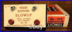 Prewar Lionel O Gauge #169 Controller Mib. Great Box And Instruction Card. M7
