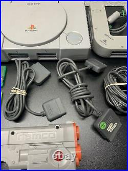 Ps1 Lot HUGE BUNDLE GREAT DEAL 5 Memory Cards/2 Controllers/cords + MORE (AAA3)