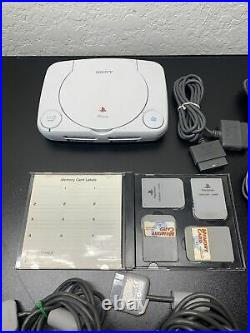 Ps1 Slim Lot 2 Controller/all Cords/4 Mermory Cards HUGE LOT BUNDLE DEAL (AAA2)