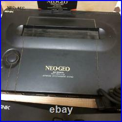 SNK NEO GEO AES Console System with Memory Card & Controller Boxed Tested Japan