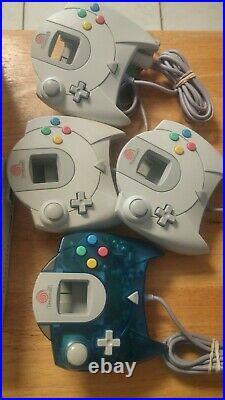 Sega Dreamcast + 24Games 4 Controllers 2 vmu, 2 memory Card, Lot Bundle see pic's