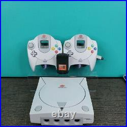 Sega Dreamcast Console Bundle with 2 Controllers 5 Games, 1 Memory Card TESTED Lot