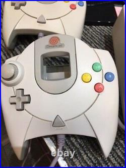 Sega Dreamcast Console HKT-3020 with 4 OEM Controllers, 11 Games, 4 VMU Cards