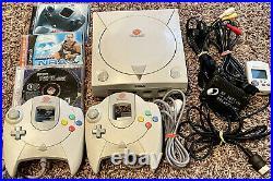 Sega Dreamcast Console System Bundle HKT-3020 Memory Card Controller Working