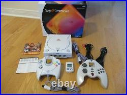 Sega Dreamcast Console TESTED with 2 Controllers & VMU Memory Card & Original Box