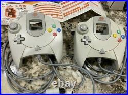 Sega Dreamcast Console withBox, Manuals, Reg Cards, 2 OEM Controllers, 2 CIB VMUs