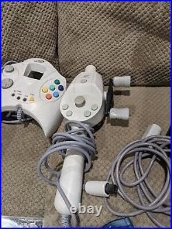 Sega Dreamcast System + 54 Games, 6 Controllers 1 Fishing, 9 Memory Cards & more