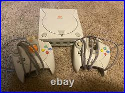 Sega Dreamcast White Console With 2 Controllers, Memory Card And 2 Games