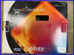 Sega Dreamcast White Console With box, 2 Controllers, Memory Card+ Cables-Tested