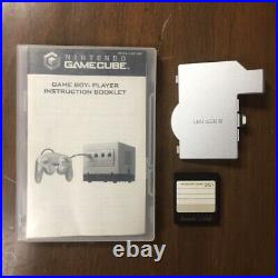 Silver Nintendo GameCube with Gameboy Player & Disc Controller Memory Card Tested
