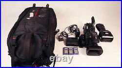 Sony PMW-EX3 XDCAM HD Camera KATA Bag, Battery, Charger, Zoom Control, 3 Cards