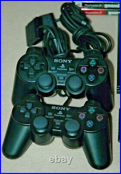 Sony PS2 PlayStation 2 Slim Console with 20 Games Memory Card 2 Controllers