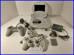 Sony PSOne SCPH-101 With 5 Rare LCD Screen Memory Card, A/C Plug 2 Controlers