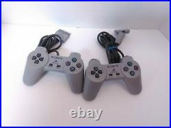 Sony PlayStation 1 PS1 Console with 2 OEM Controllers, Memory Card & 85 Games