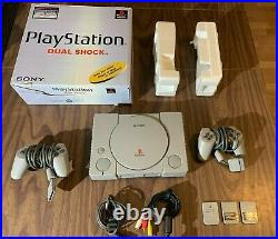 Sony PlayStation 1, PS1 SCPH-7501 in Box + Controllers + Memory Cards