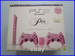 Sony PlayStation 2 Ovp 2 Controller PAL Memory Card Kabel Ps2 Pink