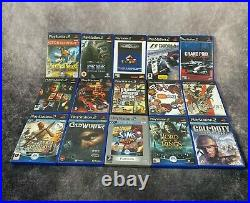 Sony PlayStation 2 PS2 Black Console Controllers Mem Card EyeToy 15 Game Bundle
