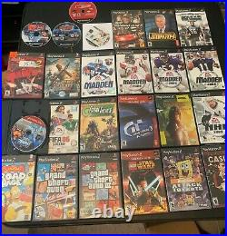 Sony PlayStation 2 PS2 Console with 25 Games, Controller and Memory Card